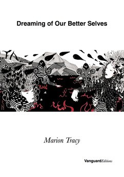 Cover of the book, which is unusual, being mainly white, with a strike of illustrative deign across the middle in black, white and red. Here there are women's faces looking weird, zigzags, stripes, trees maybe, fields maybe, leaves, squiggly bits, possibly african-isa face masks. Above the title in bold lower fast. It stretches from one side of the cover to the other. Below the author's name, fairly small, in italics. The imprint name small, black and bottom right hand corner.